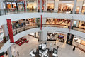 Inside modern luxuty mall in dubai uae october at over million sq ft it is the world s largest shopping based on total Royalty Free Stock Photos