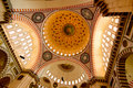 Inside of Muslim Mosque  - Istanbul Royalty Free Stock Photos