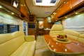 Inside new motor home Stock Image