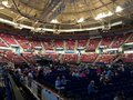 Inside the North Charleston Coliseum before a concert Royalty Free Stock Photo