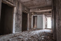 Inside of old abandoned building with construction unfinished Royalty Free Stock Photo