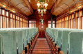 Inside an Old Passenger Rail Car Royalty Free Stock Photo