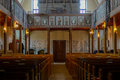 Inside old protestant lutheran church Royalty Free Stock Photo