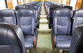 Inside of old train Royalty Free Stock Photo