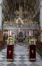Inside an orthodox church Royalty Free Stock Photo