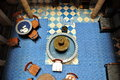 Inside part of a typical accommodation in morocco essaouira september called riad essaouira september Stock Photo