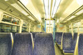Inside of passenger commuter train Royalty Free Stock Photo