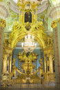 Inside peter and paul cathedral st petersburg iconostas in the the is a russian orthodox located Royalty Free Stock Photo
