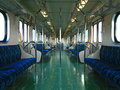 Inside a Railroad Car Stock Photo