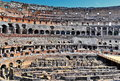 Inside roman colosseum Royalty Free Stock Photo