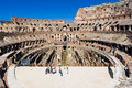 Inside of Rome Colosseum Royalty Free Stock Photo