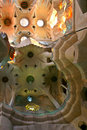 Inside the Sagrada Familia Royalty Free Stock Photography