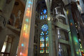 Inside of Sagrada Familia in Barcelona Royalty Free Stock Photo