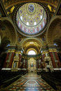 Inside Saint Stephen Basilica, Budapest Royalty Free Stock Photo