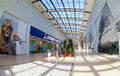 Inside of the samara hypermarket ambar russia august one largest shopping center in opened in august Royalty Free Stock Photos