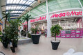 Inside of the samara hypermarket ambar russia november one largest shopping center in opened in august Stock Photography