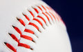 Inside of a seam particular baseball ball detail extractor version Royalty Free Stock Image