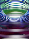 Inside slinky Royalty Free Stock Photos