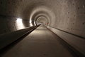 Inside subway tunnel amsterdam Royalty Free Stock Photo