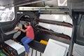 Inside Team Vestas Wind Below Deck Sailing Boat Volvo Royalty Free Stock Photo