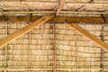 Inside of thatched roof Thai cottage Royalty Free Stock Photo