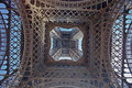 Inside the Tower Eiffel Royalty Free Stock Photo