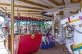 Inside view of Carousel funfair ride, Chennai, India, Jan 29 2017