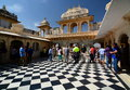 Inside view. City Palace. Udaipur. Rajasthan. India Royalty Free Stock Photo