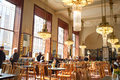Inside view of the coffee bar in an art nouveau municipal house prague czech republic Royalty Free Stock Photography
