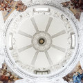 The inside view of the cupola of St.Casimir Chapel Royalty Free Stock Photo