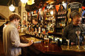 Inside view of a English pub Stock Photos