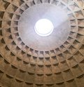 stock image of  Inside view from the pantheon ceiling, rome