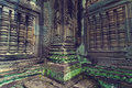 Inside view of Ta Som temple. Angkor Wat Stock Photography