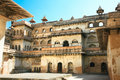 Inside the walls of Raj Mahal in Orchha, India Royalty Free Stock Photo