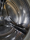 Inside of a washing machine Stock Photography