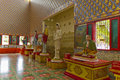 Inside the wat chaiya mangkalaram thai buddhist temple in penang malaysia Royalty Free Stock Image