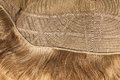 Inside of the wig closeup Royalty Free Stock Photography