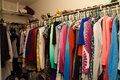 Inside a woman's closet Royalty Free Stock Photo