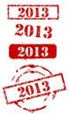 Insieme del bollo di nuovo anno 2013 Fotografia Stock