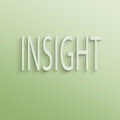 Insight text on the wall or paper Royalty Free Stock Photography