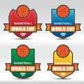 Insignes de basket ball Photos libres de droits