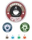 Insignia del café y del té Imagen de archivo libre de regalías