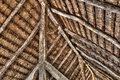 The insite roof of an old scandinavian farm Royalty Free Stock Photo