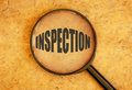 Inspection Royalty Free Stock Photo