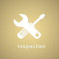 Inspection Image libre de droits
