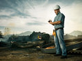 Inspector at work Royalty Free Stock Photo