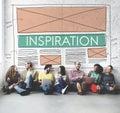 Inspiration Aspiration Creative Imagination Dream Concept Royalty Free Stock Photo