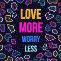 Inspiration motivation love quote 80s background Royalty Free Stock Photo