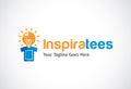 Inspiration Tees Logo Template Design Vector, Emblem, Design Concept, Creative Symbol, Icon