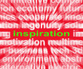 Inspiration Word Shows New And Original Ideas Royalty Free Stock Photo